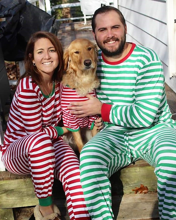 Shea (Shire x Jack) and her family ready for Christmas Eve